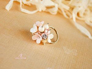 Кольцо с цветами сирени   Ярмарка Мастеров - ручная работа, handmade