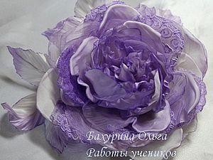 Цветы из ткани.Мастер-класс   Ярмарка Мастеров - ручная работа, handmade