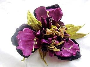 МК по цветам из кожи - ирис | Ярмарка Мастеров - ручная работа, handmade