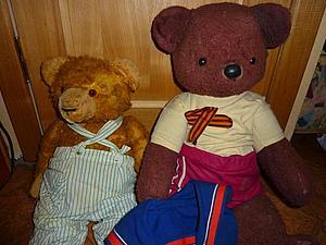 """""""А их было двое!"""": реставрация """"совецкого"""" мишки. Ярмарка Мастеров - ручная работа, handmade."""