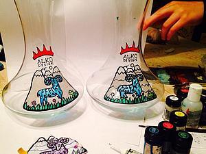 Роспись рождественской вазы.   Ярмарка Мастеров - ручная работа, handmade