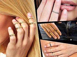 Новая грань моды: роскошные фаланговые кольца или кольца-миди | Ярмарка Мастеров - ручная работа, handmade
