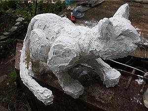 Снежный барс для летнего сада. Ярмарка Мастеров - ручная работа, handmade.