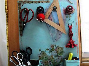 Настенный органайзер для рукоделия своими руками. Ярмарка Мастеров - ручная работа, handmade.