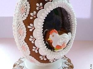 МК Пряничное Пасхальное яйцо на подставке | Ярмарка Мастеров - ручная работа, handmade