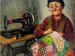 История лоскутного шитья маслом и акварелью | Ярмарка Мастеров - ручная работа, handmade