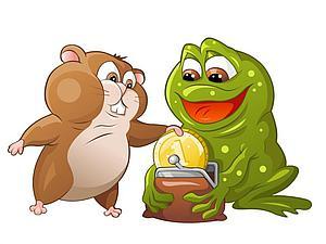Борьба жабы и хомяка: счёт в пользу разума. Ярмарка Мастеров - ручная работа, handmade.