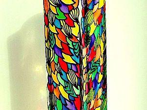 Преображение стеклянной вазы с помощью витражных красок. Ярмарка Мастеров - ручная работа, handmade.