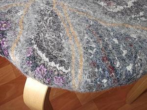 Валяние чехла для табурета.. Ярмарка Мастеров - ручная работа, handmade.