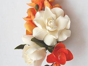 Мастерим цветочный зажим для штор из полимерной глины. Ярмарка Мастеров - ручная работа, handmade.