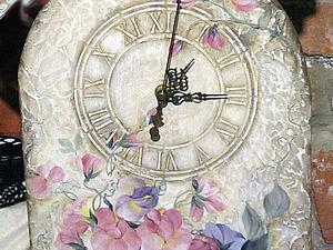 Часы с эффектом декоративной штукатурки. | Ярмарка Мастеров - ручная работа, handmade
