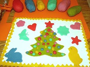 Лепим с детьми новогодние поделки из солёного теста. Ярмарка Мастеров - ручная работа, handmade.