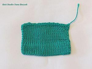 Обработка низа вязаного изделия в подгиб | Ярмарка Мастеров - ручная работа, handmade