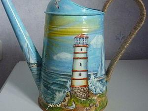 Декоративная лейка «Морская»: мастер-класс. Ярмарка Мастеров - ручная работа, handmade.