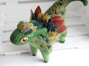 Делаем фетровые перышки-чешую для валяного дракончика | Ярмарка Мастеров - ручная работа, handmade