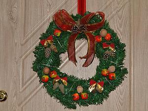 Несложный способ смастерить рождественский венок. Ярмарка Мастеров - ручная работа, handmade.