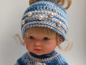 Вязаный комплект из двух предметов для куклы. Ярмарка Мастеров - ручная работа, handmade.