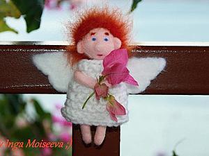 Ангел сентября, войлочный магнит или брошь своими руками. Ярмарка Мастеров - ручная работа, handmade.