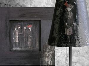 Декорирование абажура в техниках декупаж и кракле. Ярмарка Мастеров - ручная работа, handmade.