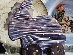 «КРОЛИК»  или другая игрушка  в стиле «рустик», различные методы состаривания дерева, браширование СКИДКА! | Ярмарка Мастеров - ручная работа, handmade