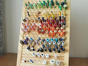 Мастерим стенд для удобного хранения ниток. Ярмарка Мастеров - ручная работа, handmade.