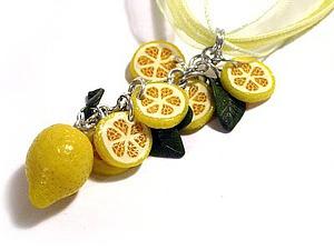Фотоурок «Лимонные дольки из полимерной глины» | Ярмарка Мастеров - ручная работа, handmade