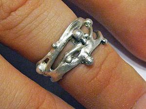 Лепим ажурное кольцо из серебряной глины: текучее серебро. Ярмарка Мастеров - ручная работа, handmade.