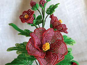 Плетение цветов на проволоке Мальва   Ярмарка Мастеров - ручная работа, handmade