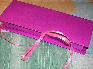 Коробка-книжка с завязками | Ярмарка Мастеров - ручная работа, handmade