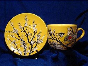 Фломастеры по керамике. Роспись чашки | Ярмарка Мастеров - ручная работа, handmade