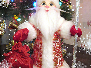 Делаем Дедушку Мороза в нарядной теплой шубе. Ярмарка Мастеров - ручная работа, handmade.