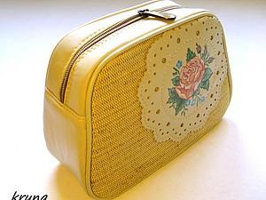 Особенности обработки сумок кедером. Шьем косметичку с каркасом | Ярмарка Мастеров - ручная работа, handmade