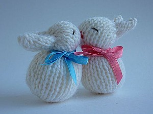 Вяжем милых кроликов-неразлучников | Ярмарка Мастеров - ручная работа, handmade