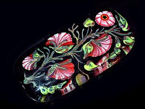 Создаем расписную бусину: делаем рисунок стеклом по стеклу. Ярмарка Мастеров - ручная работа, handmade.