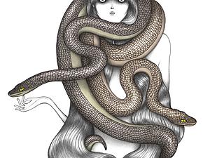 Выразительная фешен-графика  Laura Laine. | Ярмарка Мастеров - ручная работа, handmade