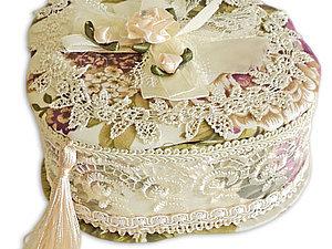 Текстильная шкатулка   Ярмарка Мастеров - ручная работа, handmade