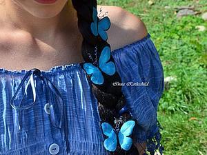 Фотосессия с шелковыми бабочками | Ярмарка Мастеров - ручная работа, handmade