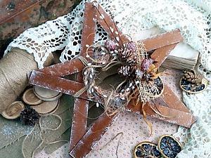 Создаем необычный рождественский венок в стиле рустик. Ярмарка Мастеров - ручная работа, handmade.