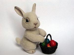 Валяем пасхально кролика | Ярмарка Мастеров - ручная работа, handmade