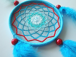 Плетем «ловца снов» с бисером. Ярмарка Мастеров - ручная работа, handmade.