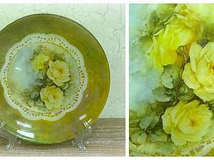 Мастер-класс по декупажу тарелки (по стеклу) | Ярмарка Мастеров - ручная работа, handmade