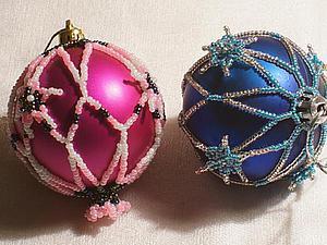 Оплетаем новогодний шарик быстро и просто. Ярмарка Мастеров - ручная работа, handmade.