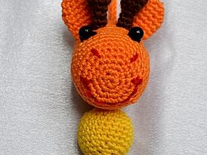 Жирафа - подвеска на коляску | Ярмарка Мастеров - ручная работа, handmade