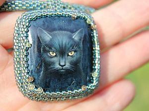 Кошка на родусите - в колье! | Ярмарка Мастеров - ручная работа, handmade