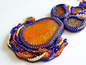 Вышиваем кулон с плетеными элементами. Ярмарка Мастеров - ручная работа, handmade.
