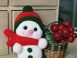 Розыгрыш очень симпатичного снеговичка)))) | Ярмарка Мастеров - ручная работа, handmade