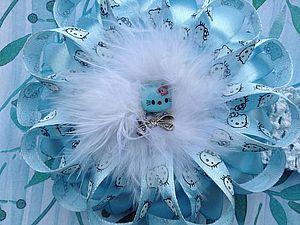 Красивая повязочка для девочки с цветком из атласных лент | Ярмарка Мастеров - ручная работа, handmade