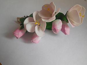Создаем нежное соцветие яблони из фоамирана. Ярмарка Мастеров - ручная работа, handmade.