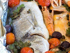 Рецепты итальянской кухни из Италии - Рыба запеченная в духовке в фольге | Ярмарка Мастеров - ручная работа, handmade