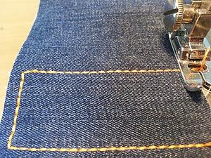 Как прострочить отделочную строчку в три нитки из одной катушки. Ярмарка Мастеров - ручная работа, handmade.